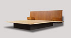 Sapele and Maple Bed.